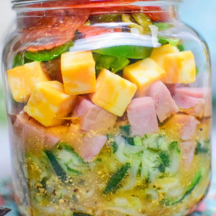 Keto Pasta Salad in a Jar