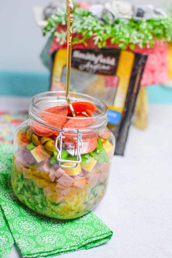 Zucchini Pasta Salad in a Jar