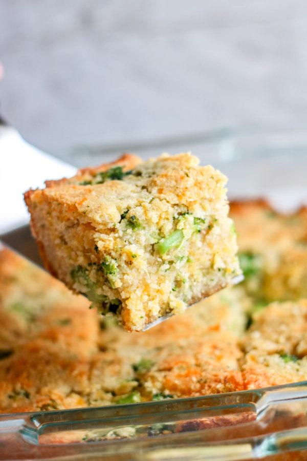 Broccoli and Cheese Keto Cornbread