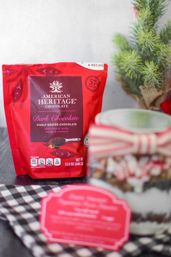 DIY Peppermint Brownies in a Jar - gift Idea