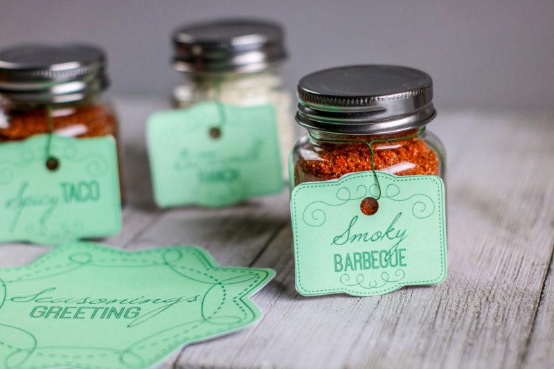 DIY Seasonings Christmas Jar Gift