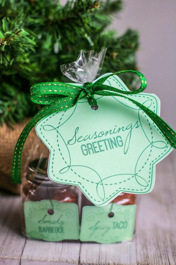 DIY Seasonings Greetings Gift