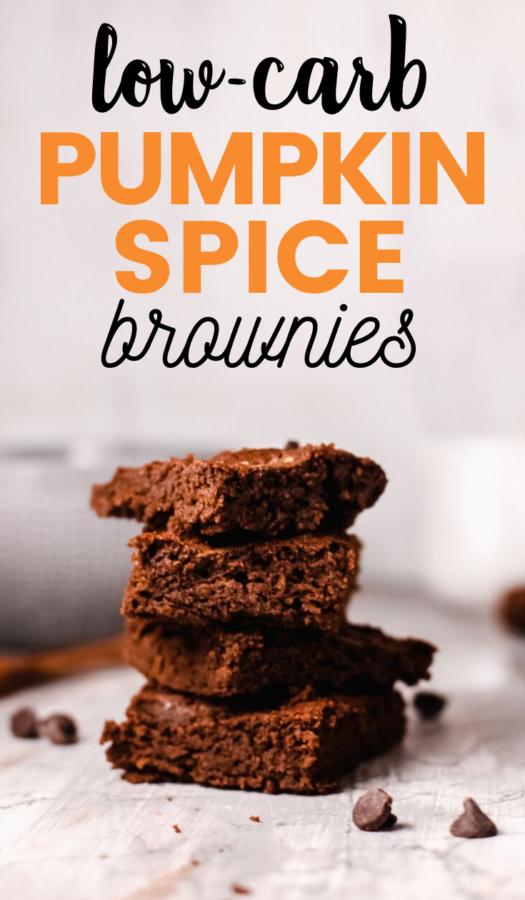 Keto Pumpkin Spice Brownies