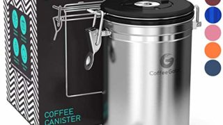 Coffee Gator Coffee Canister Stainless Steel Coffee Container