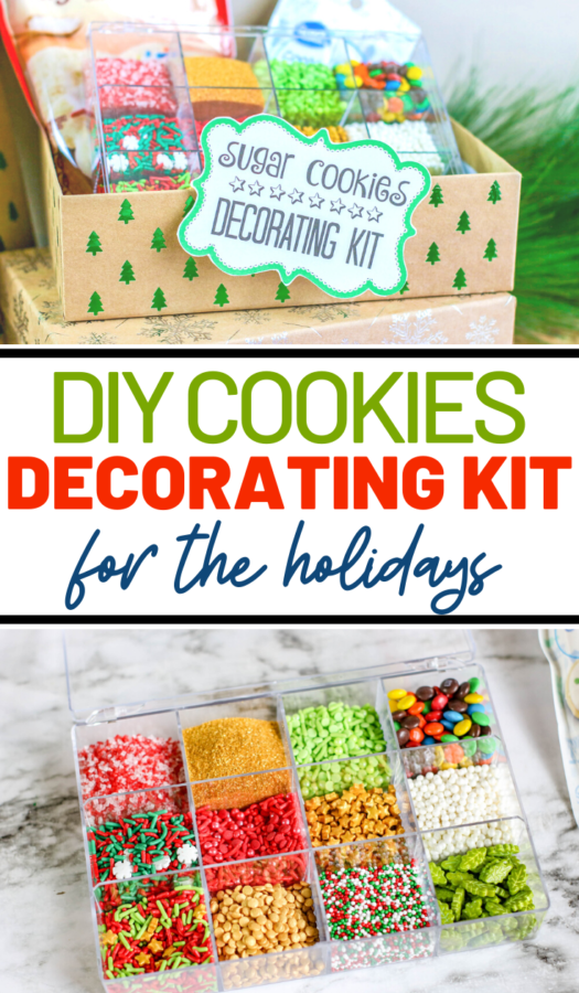 If you know someone who is a baking queen during the holidays, then you should certainly consider this DIY Cookie Decorating Kit as a gift!