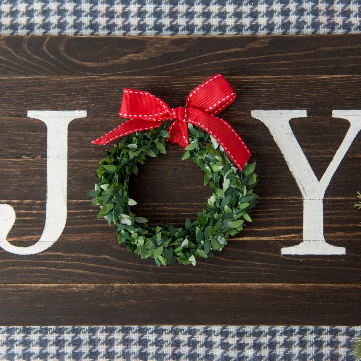 DIY Joy Wood Sign Tutorial