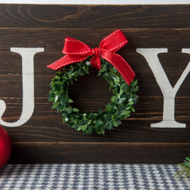 DIY Joy Wood Sign for Christmas