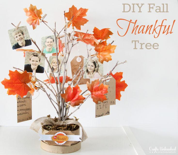 Thankful Tree: DIY Family Themed Decor for Fall