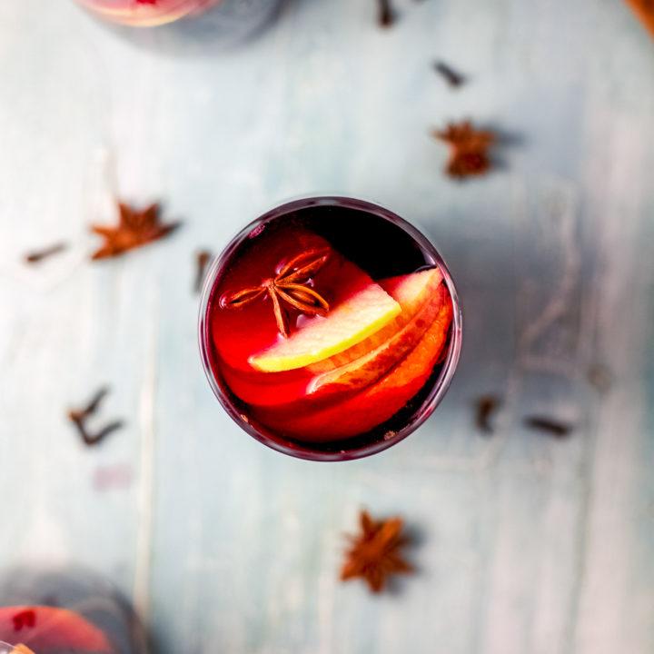 Healthy Holiday Sangria Recipe