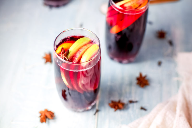 Yummy Holiday Sangria By the Glass