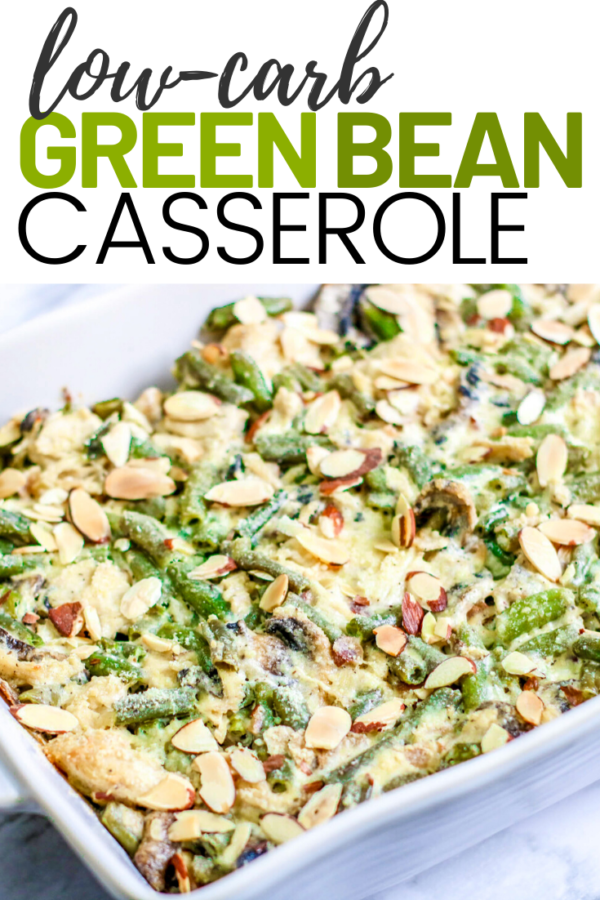 Low-Carb Green Bean Casserole with Chicken