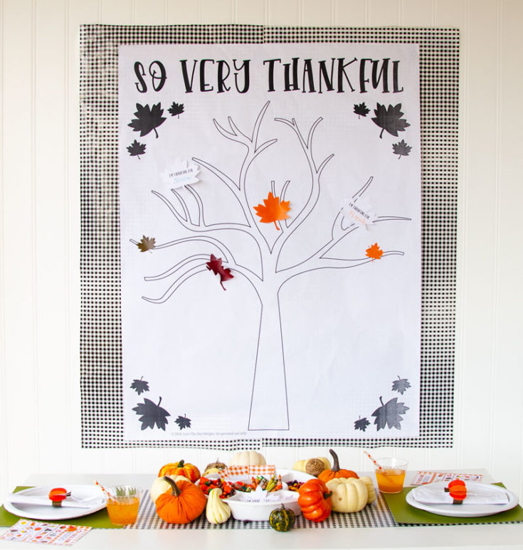 Thankful Tree Craft & FREE PRINTABLE by Lindi Haws of Love The Day