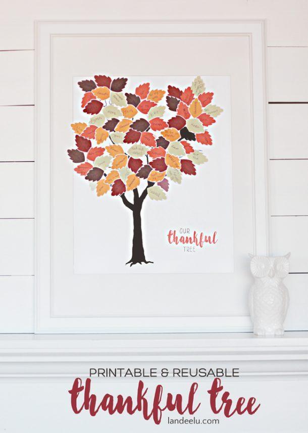 Thankful Tree Printable | landeelu.com