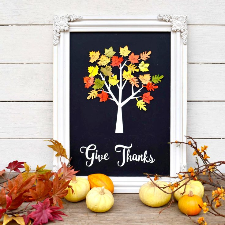 Thankful Tree Craft Home Decor for Thanksgiving