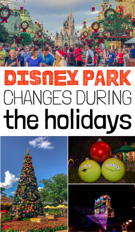 There are so many lovely and fun Disney Park changes during the holidays that you MUST know about when planning your holiday vacation.
