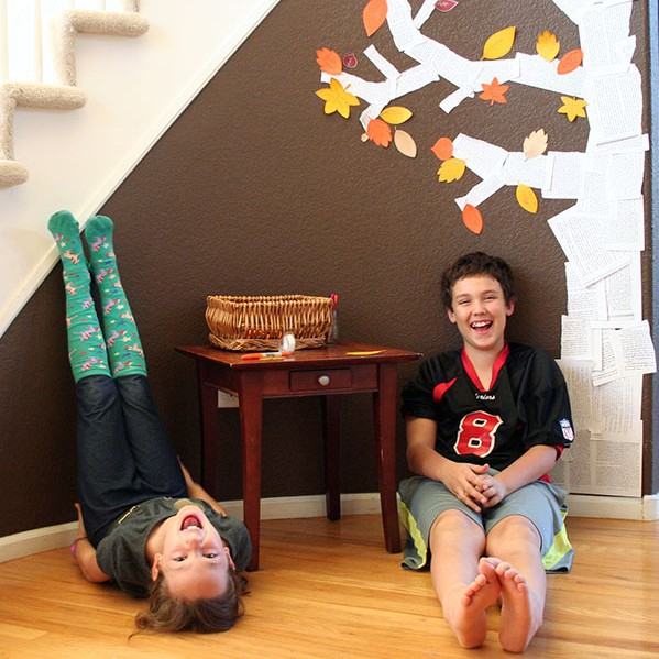 DIY Thankful Tree - a Happiness Project