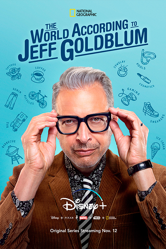 the world according to jeff goldblum poster