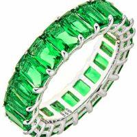 Maya J Eternity Ring - Emerald-Cut ($48.00)