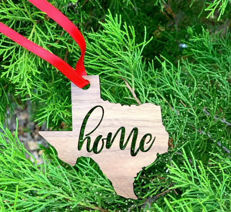 Home State Wooden Ornament