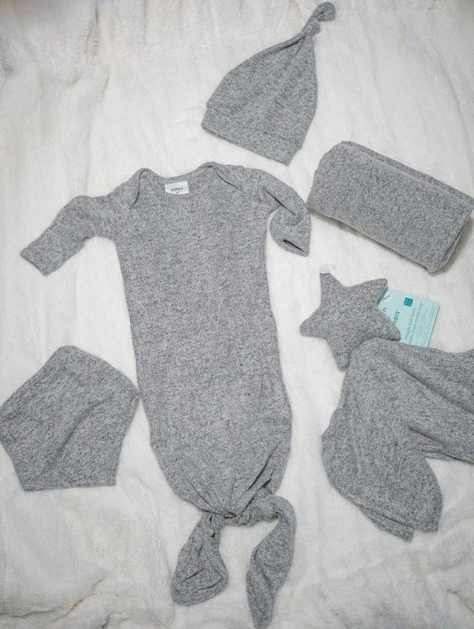 Gray Baby Clothing Knit Set