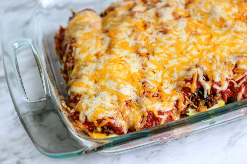 Melted Cheese Zucchini Keto Bake