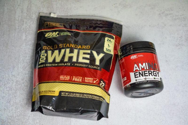 Optimum Nutrition Whey and Amino Energy