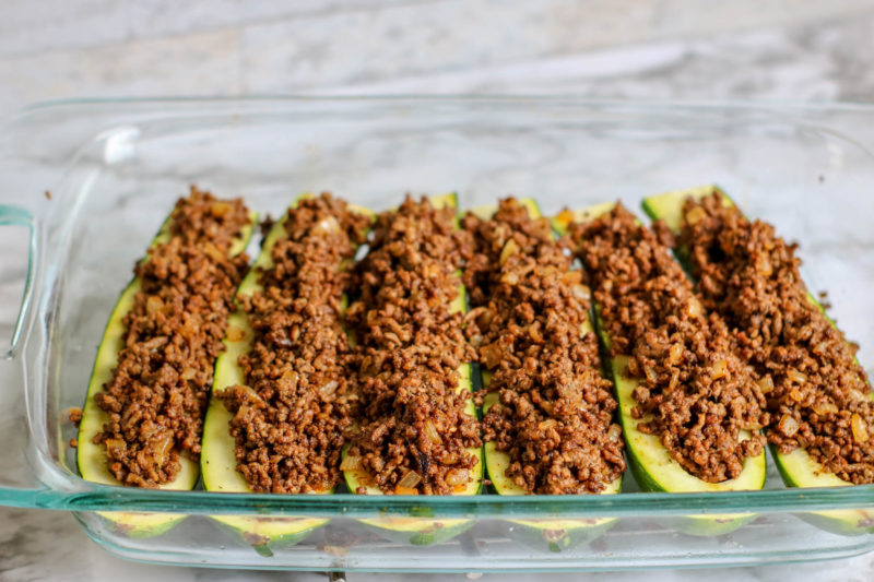 How to Stuff Zucchinis with Ground Beef