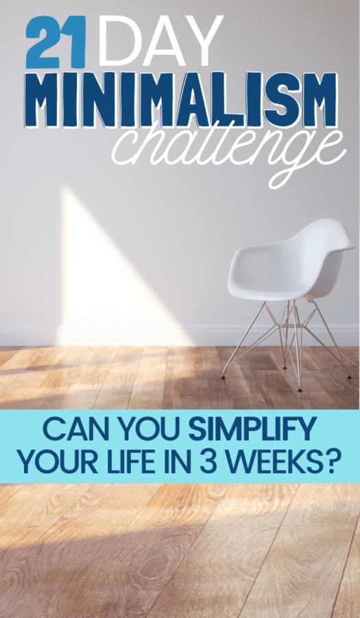 21 Day Minimalist Challenge
