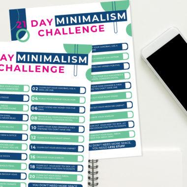 Minimalism Challenge Checklist Free Download