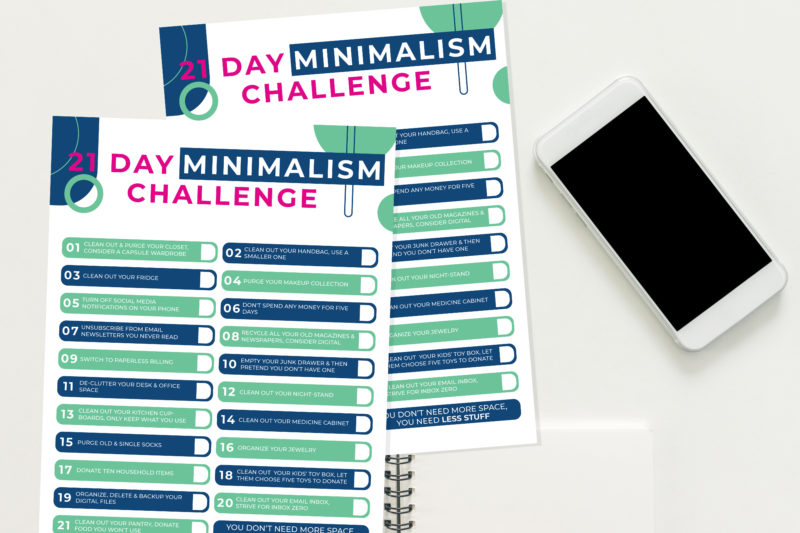 Minimalism Challenge Checklist Free Download