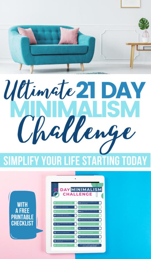 Minimalist Challenge with Free Checklist