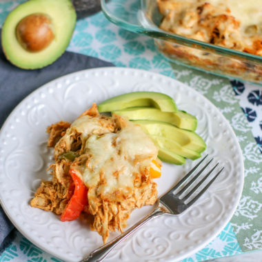 Chicken Fajita Casserole (Low Carb) Recipe