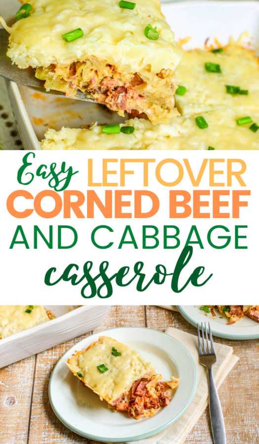 If you're wondering what to do with that leftover corned beef & cabbage after St. Patrick's Day, you'll love this easy leftover corned beef rueben casserole. This is a great keto casserole that's full of flavor.