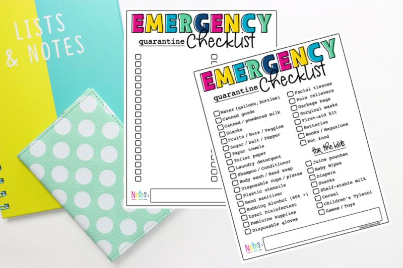 Coronavirus Checklist Printable