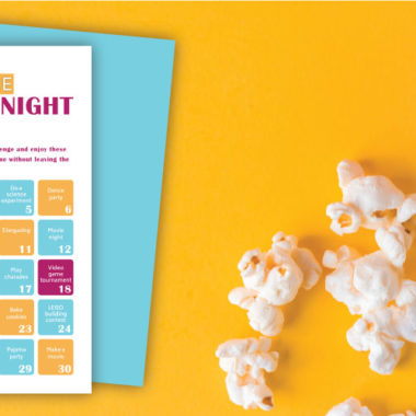 30 Ideas for a Family Date Night At Home (Free Challenge Printable)