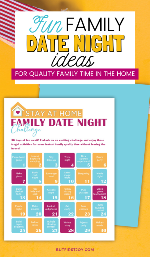 It's easy to be overwhelmed with boredom when stuck at home but I want to change that! These Family Date Night at Home ideas will make home life more fun!