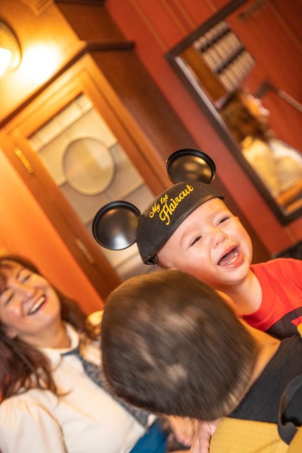 First Haircut at Disney Magic Kingdom