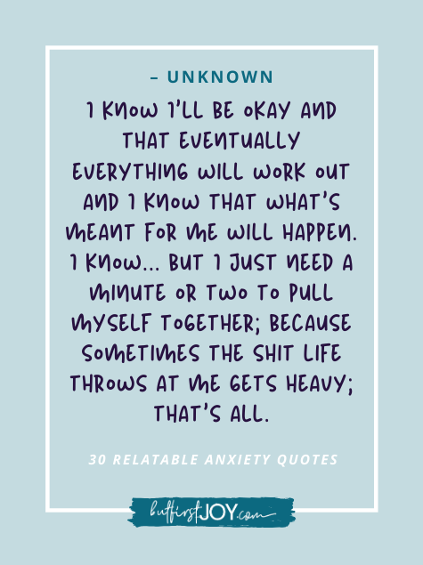 Relatable Anxiety Quotes