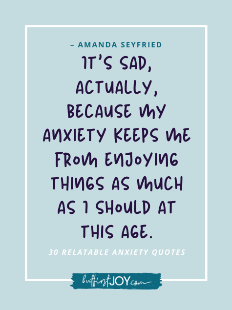 Amanda Seyfried Anxiety Quotes