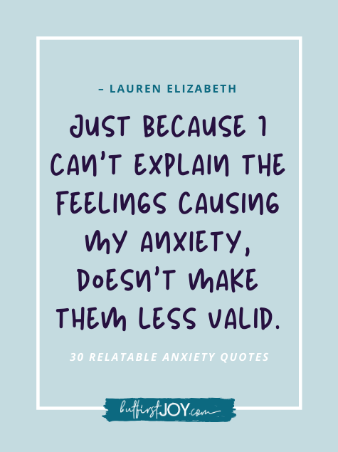Anxiety Quotes about Feelings