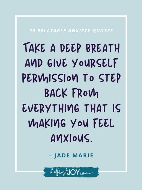 Deep Breath Quote about Anxiety