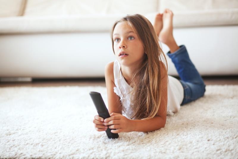 Child Watching News Understand