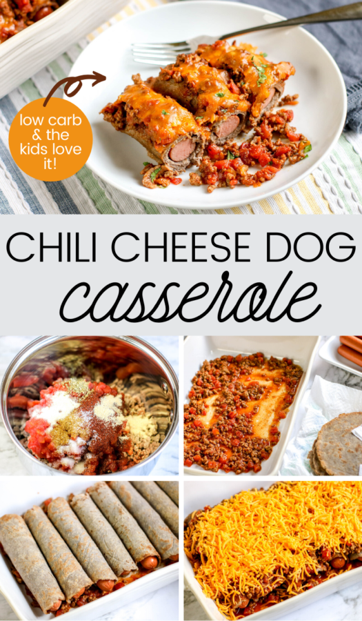 If you're looking for an easy family meal that the kids will love – this chili cheese dog casserole will do the trick. It's a low carb dinner option using ingredients you probably already have.