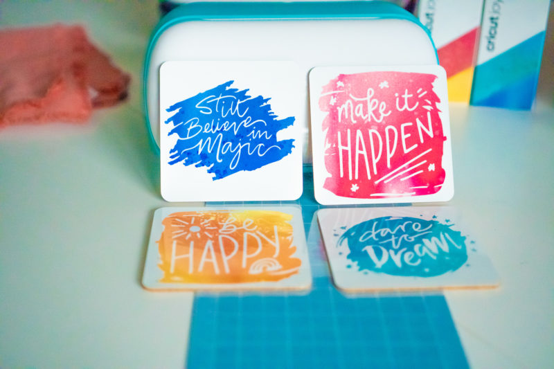 How to make coasters with cricut joy infusible ink _ 1