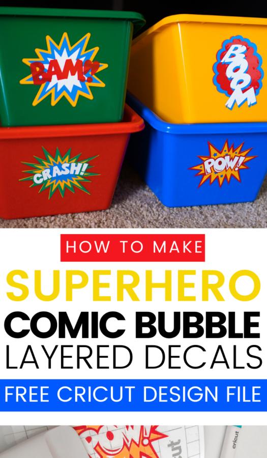 How to make Superhero Comic Book Bubbles (1)