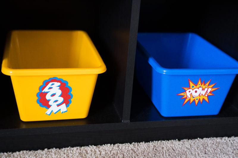 Superhero Comic Bubble Vinyl Decals for kids room