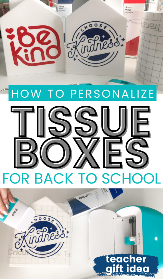 How To Personalize Tissue Boxes with Cricut