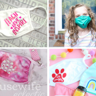 10 Ways To Personalize Face Masks for Back To School (with Cricut)