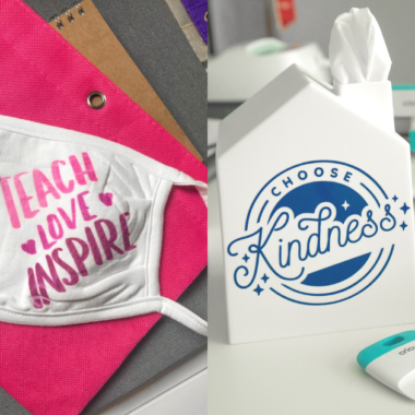 Make Personalized Tissue Boxes & Masks for Teachers with Cricut