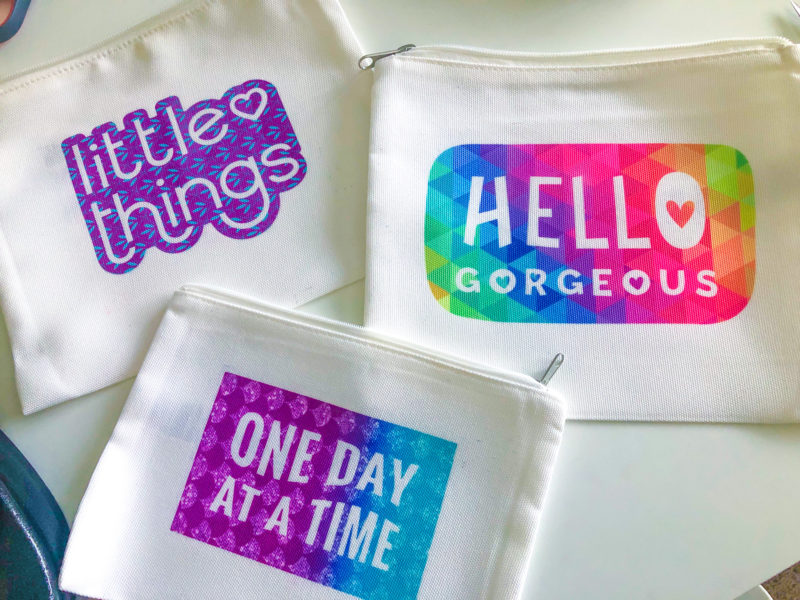 Infusible Ink Cosmetic Bags Design